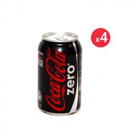 Coca-cola Zéro Canette Pack 33CL X4