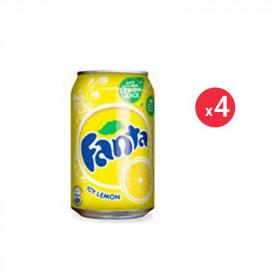 Fanta Citron Canette Pack 33CL X4