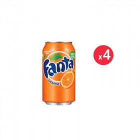 Fanta Orange Canette Pack 33CL X4