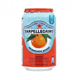 San pellegrino Orange Rouge canette 33CL