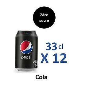 Pepsi Zéro sucre 33CLx12