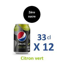 Pepsi Zéro sucre Citron 33CLx12