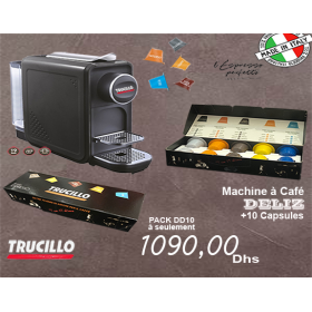 TRUCILLO PACK Machine à café + 10 capsules