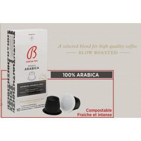 Café BARBERA ESPRESSO ARABICA 100% (intensité 7)* 10 capsules