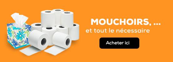 Mouchoirs, Essuie-Tout, Papier hygiénique et le reste